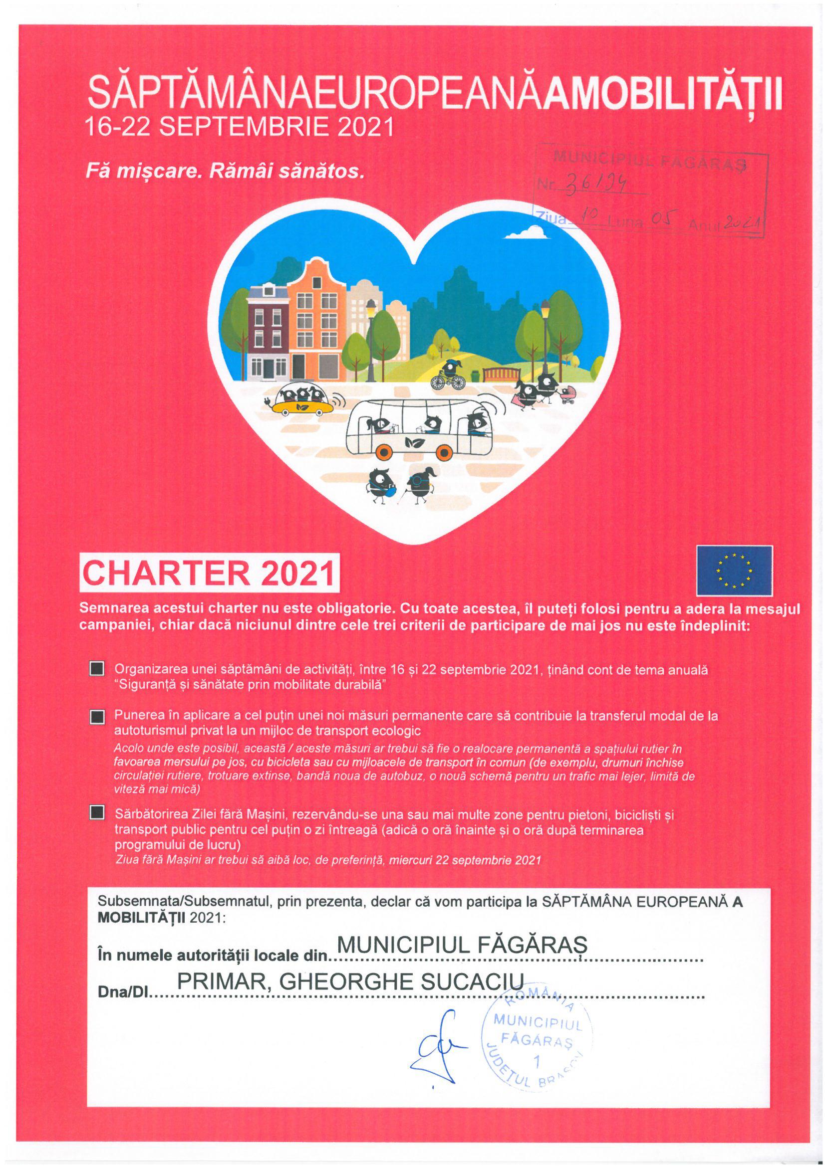 CAMPANIA  SAPTAMANA MOBILITATII EUROPENE 2021 16-22 SEPTEMBRIE 2021